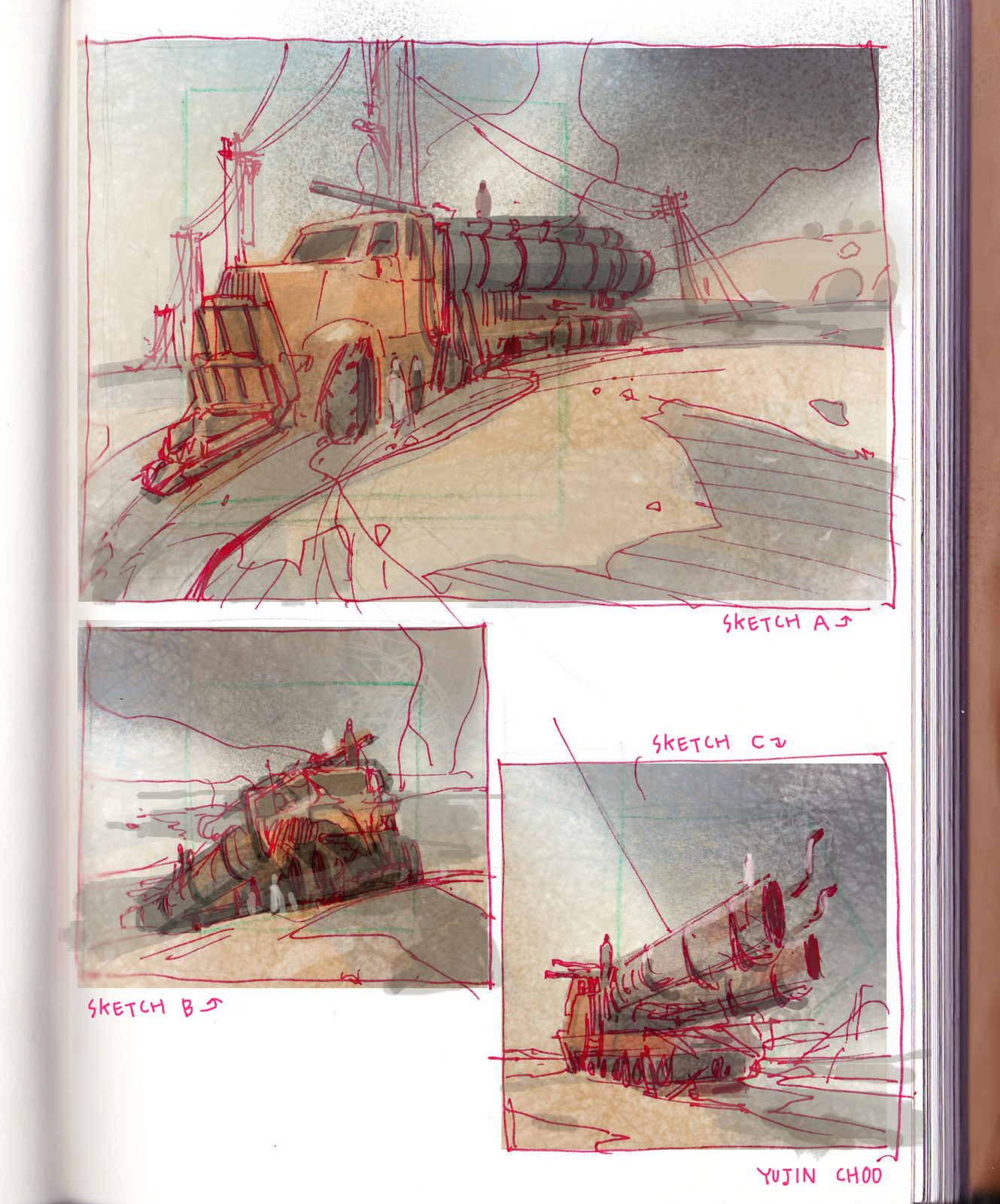 Sketchbook Sketches/ Composition plan