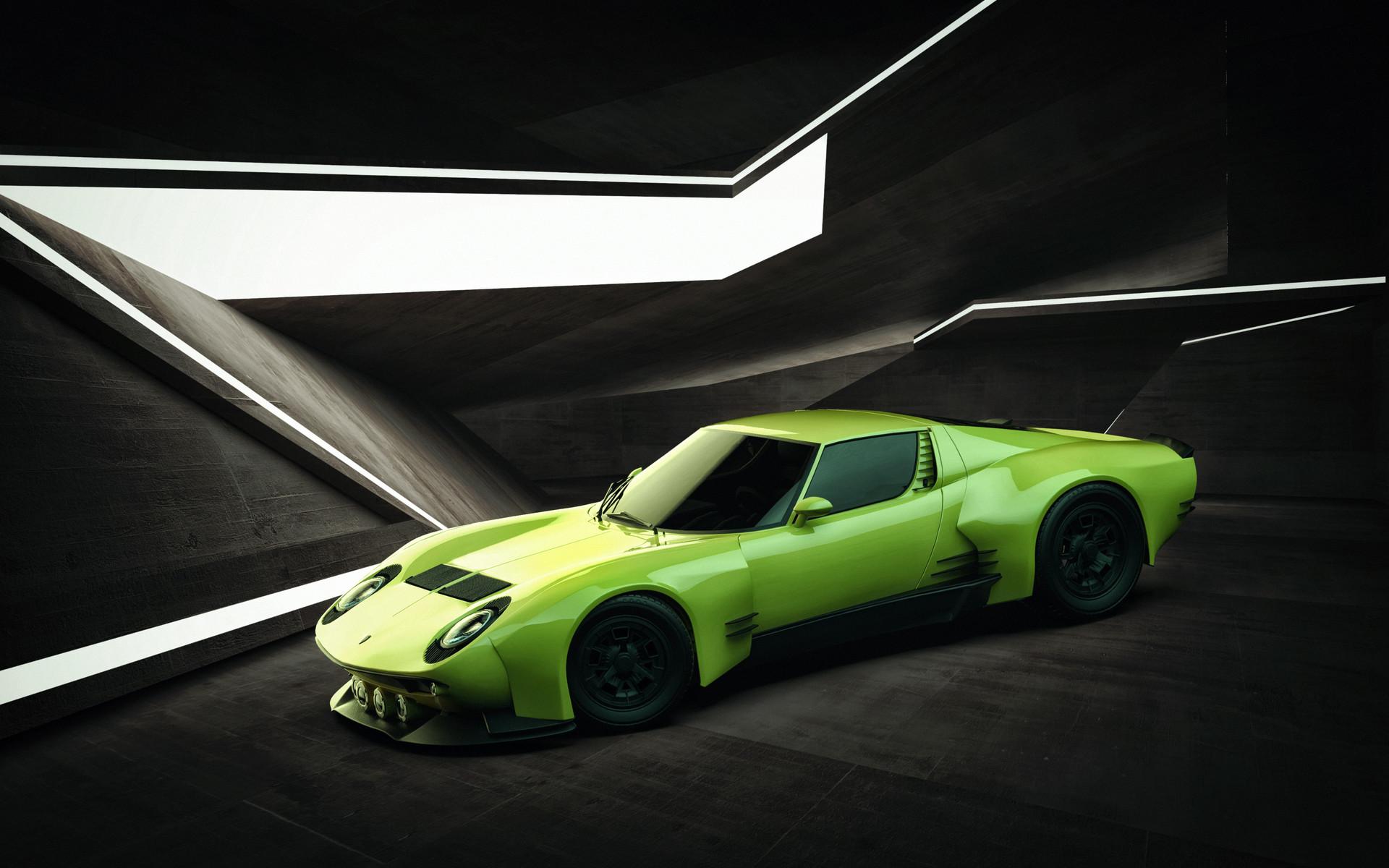 Artstation Lamborghini Miura Torero Concept Federico Zimbaldi