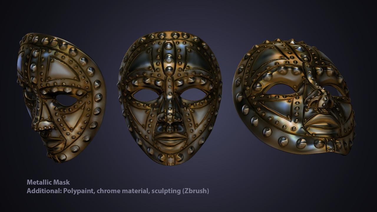 3D Metallic Mask for University