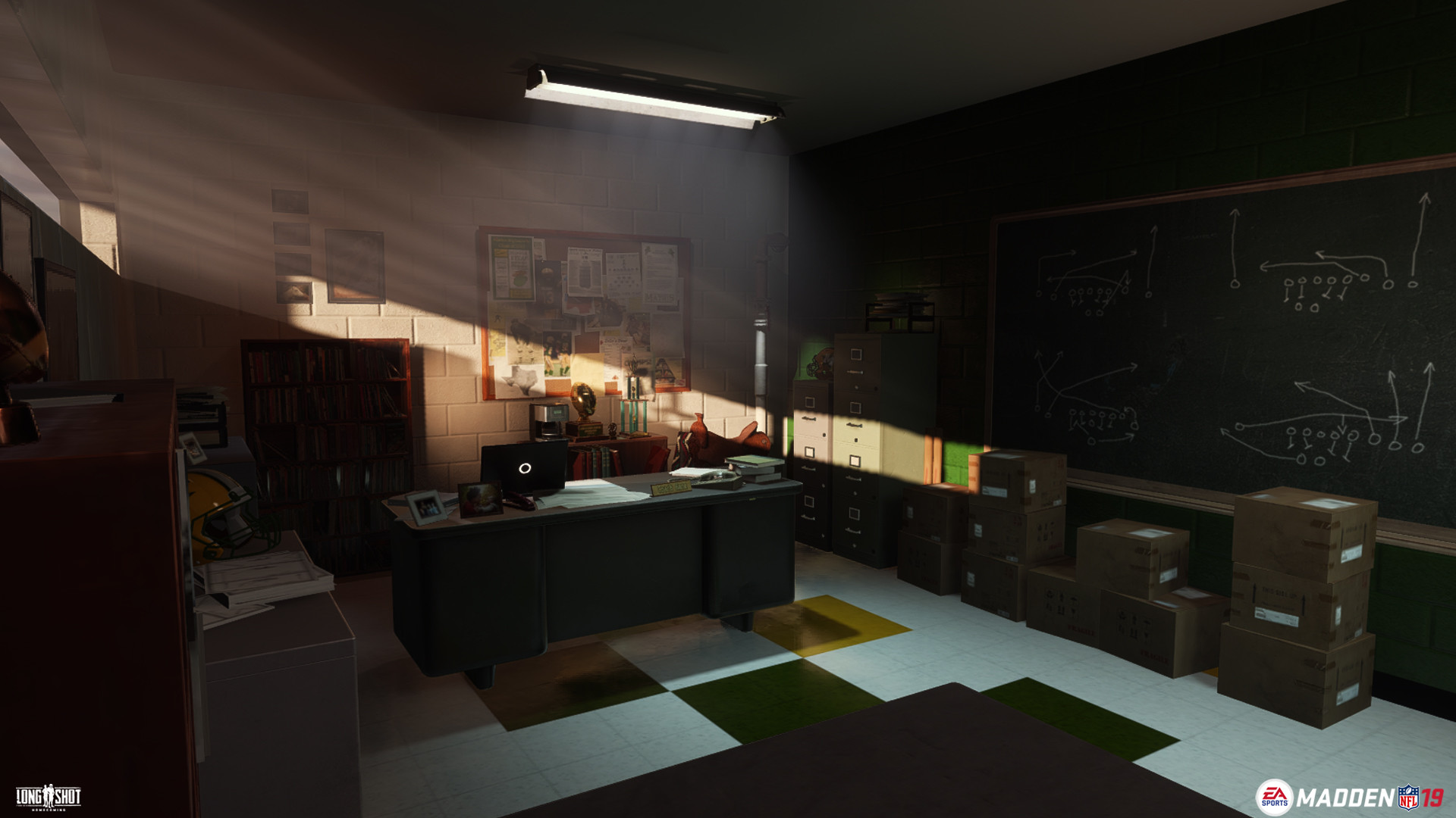 ArtStation - Coach Hank's Office (Madden 19), Connor Hollis