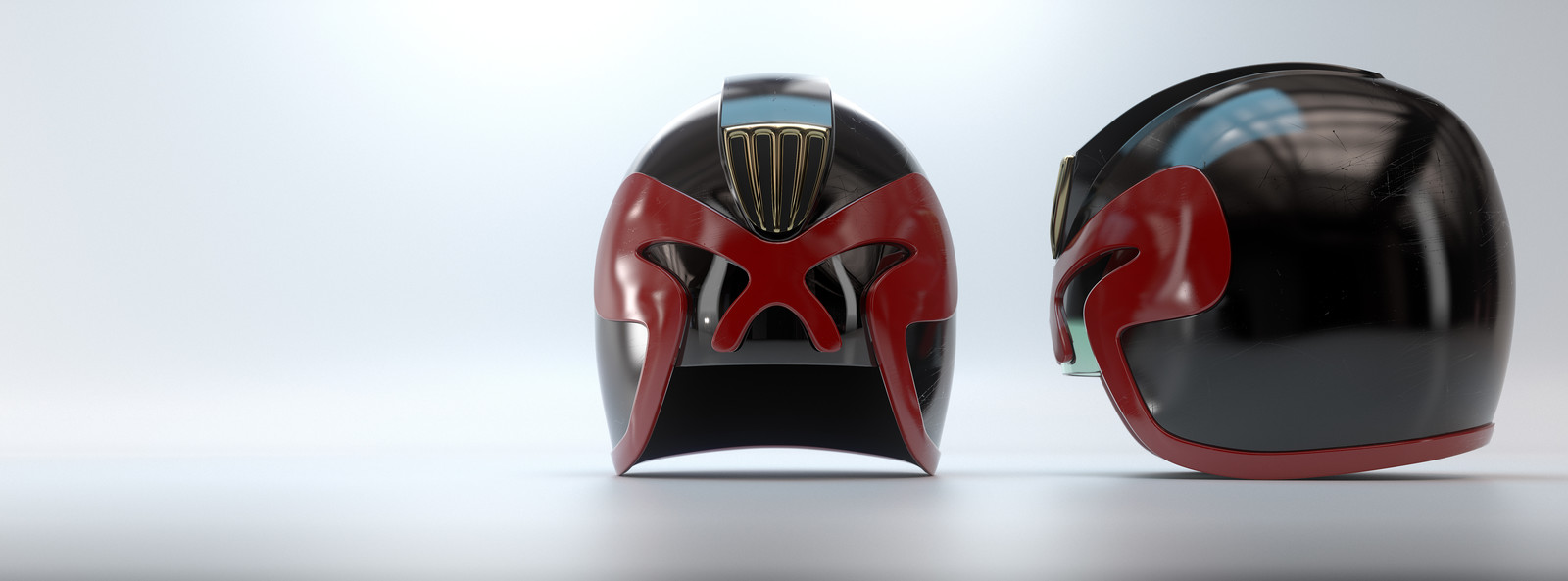 Judge Dredd universe helmet project