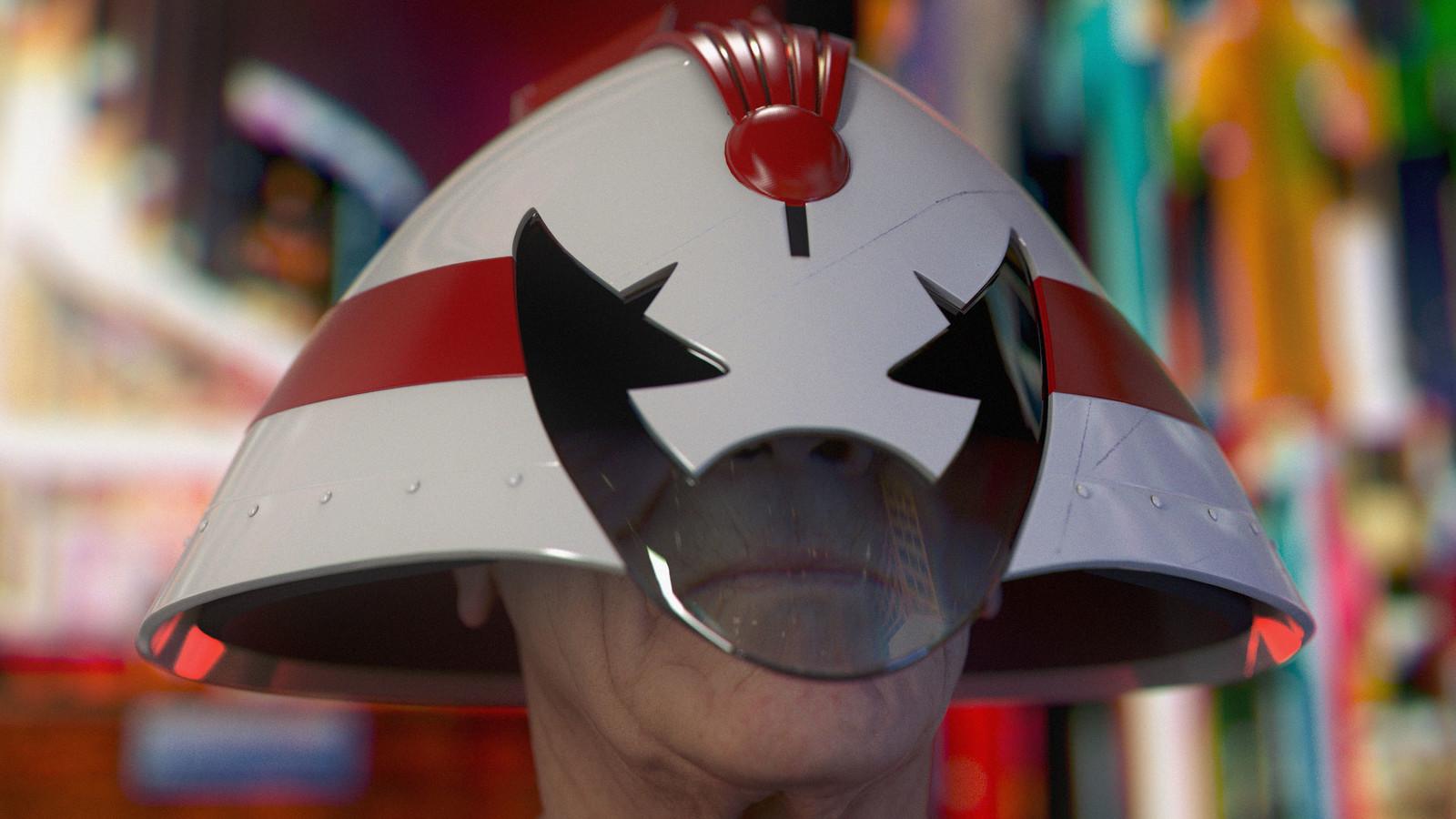 Hondo-Cit Judge Helmet based on a design by Brendan McCarthy (Head sculpt by Ten24)