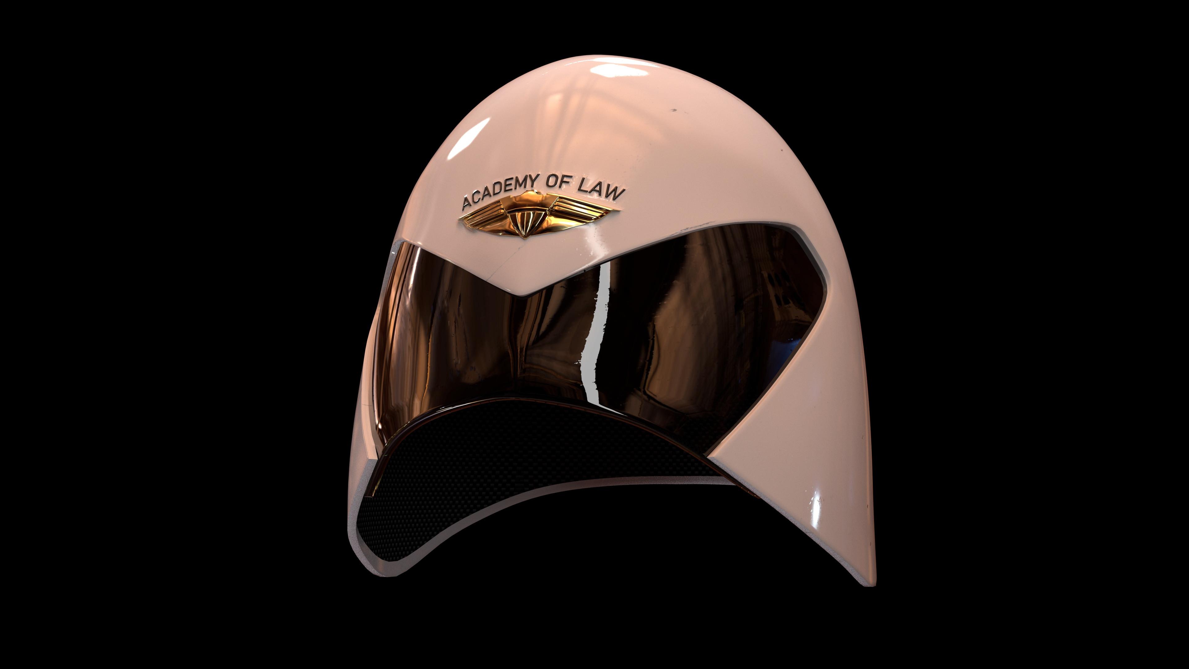 Mega-City One Cadet Helmet based on a design by Carlos Ezquerra