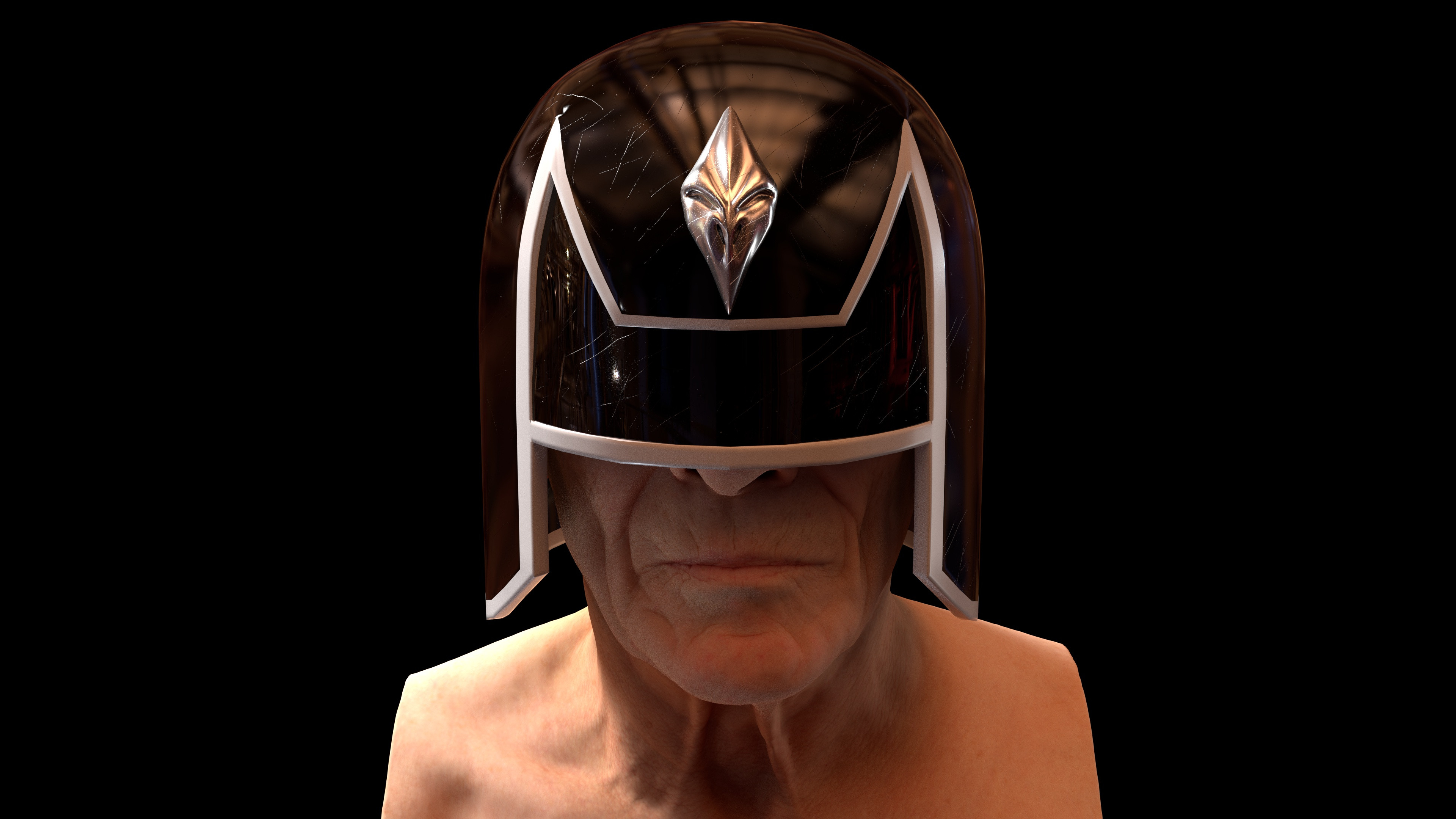Deadworld Judge Helmet based on a design by Peter Doherty (Head sculpt by Ten24)