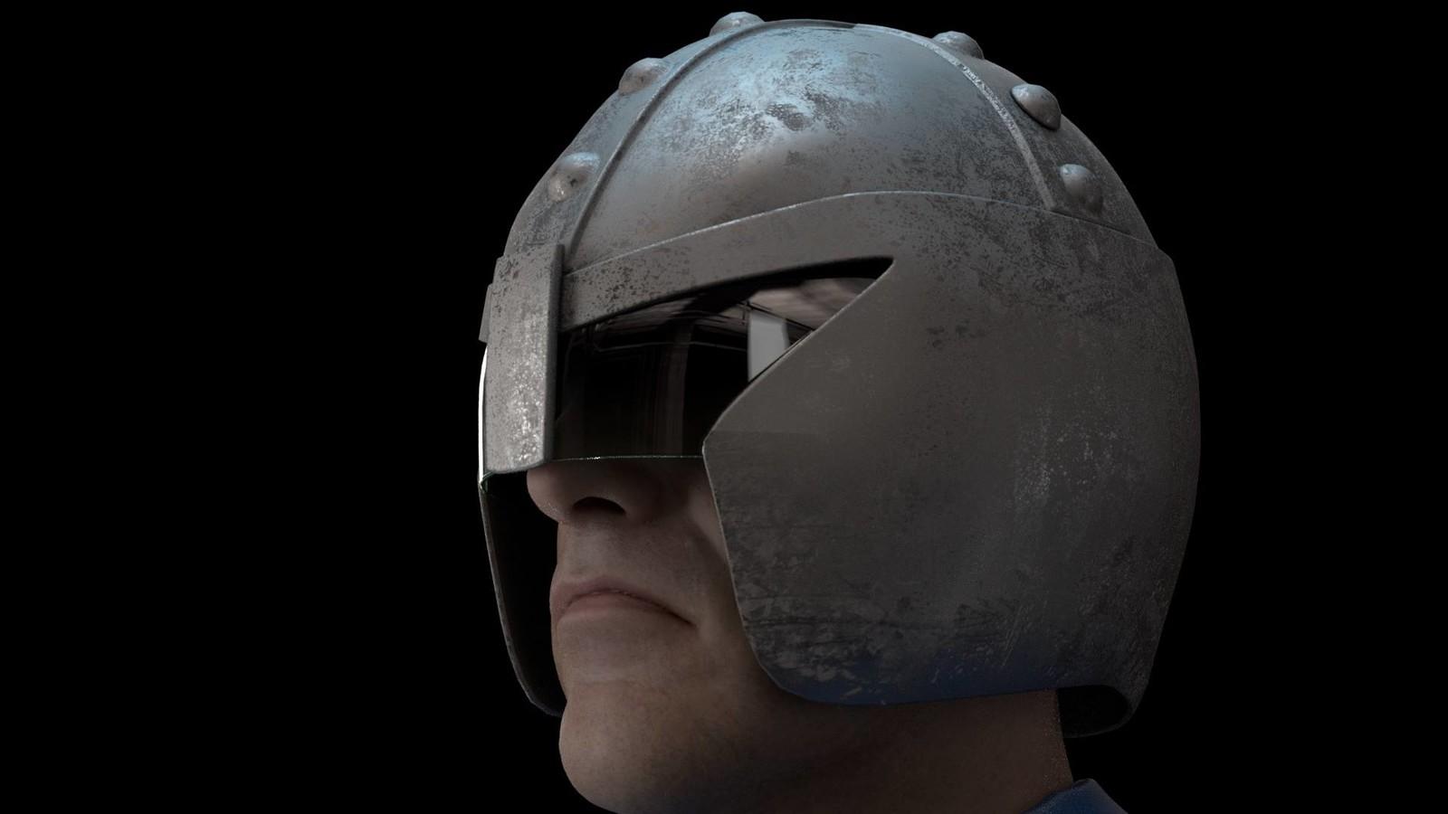 Cal-Hab Judge Helmet based on a design by John Ridgway (Head sculpt by Ten24)