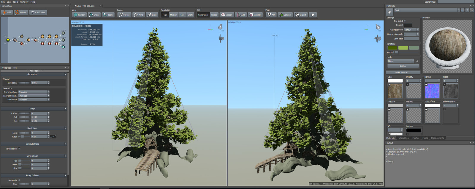 Project in SpeedTree