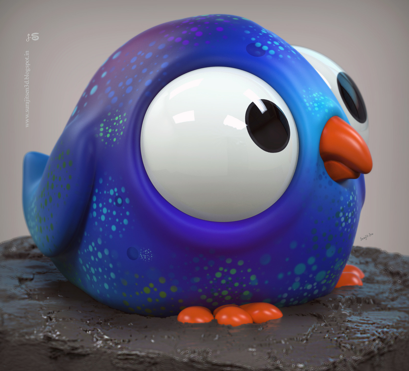 Bobo. A CG bird.  Used some basic tools and tried to make a form of bird. Wish to share a snap  :)