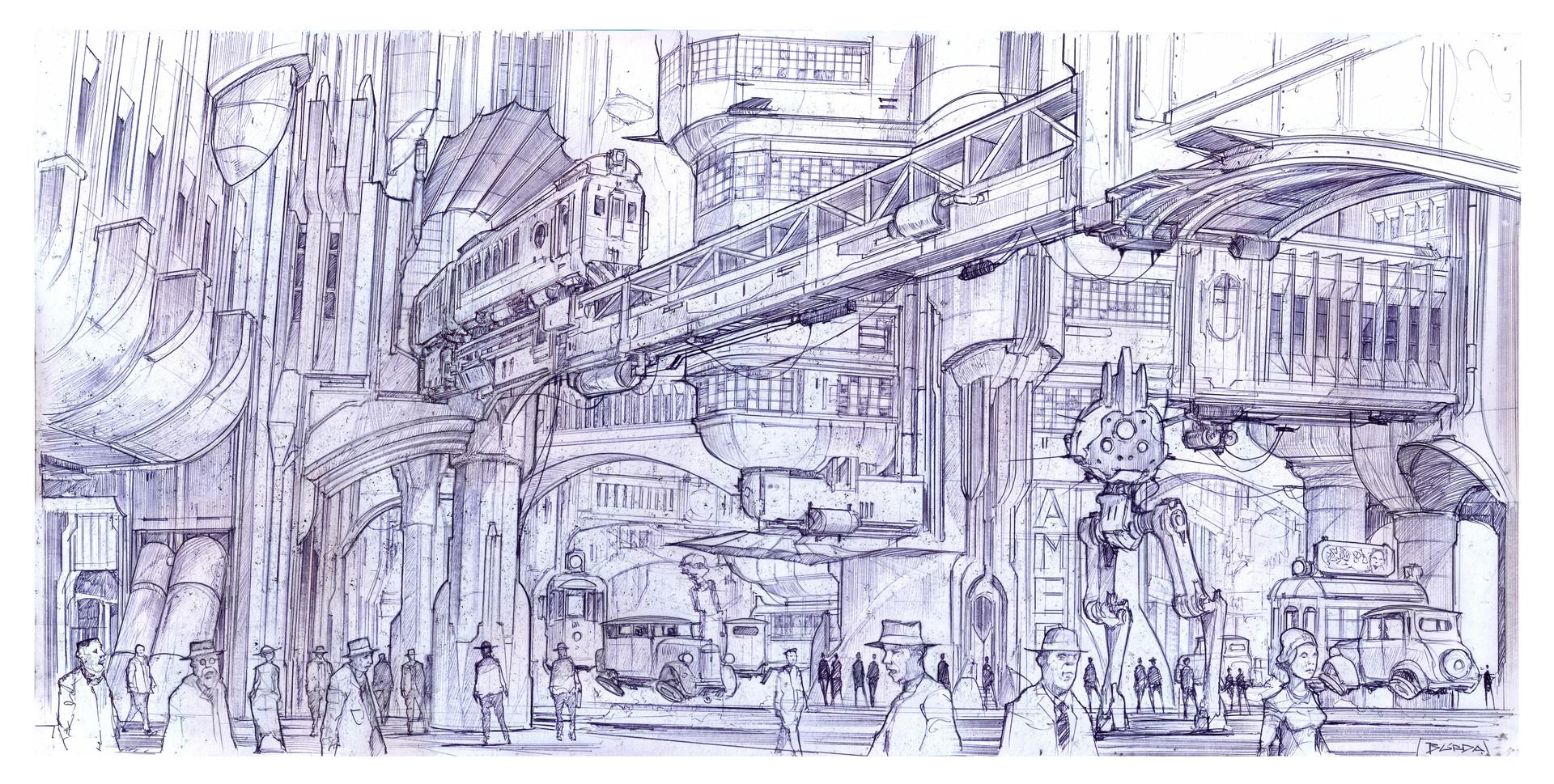Alejandro burdisio acropolis sketch 3