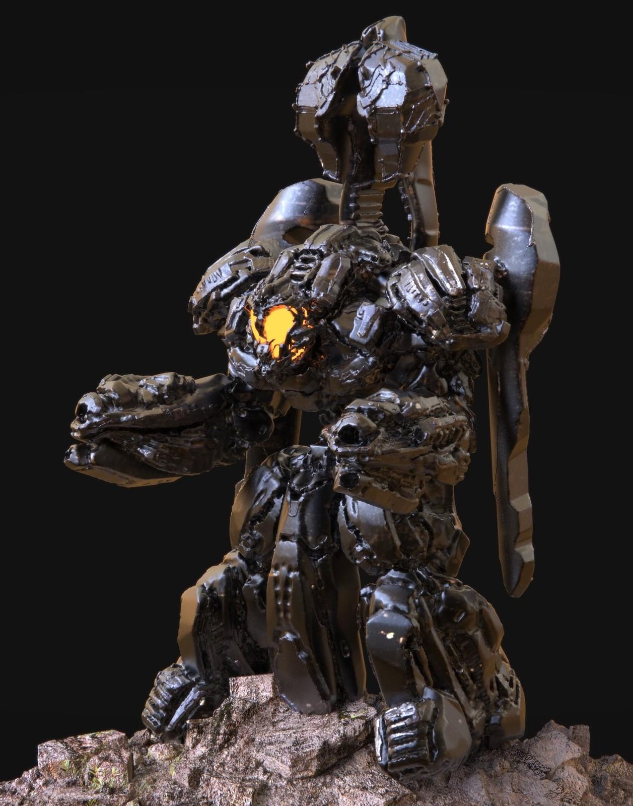 Combat Mech 3D Concept