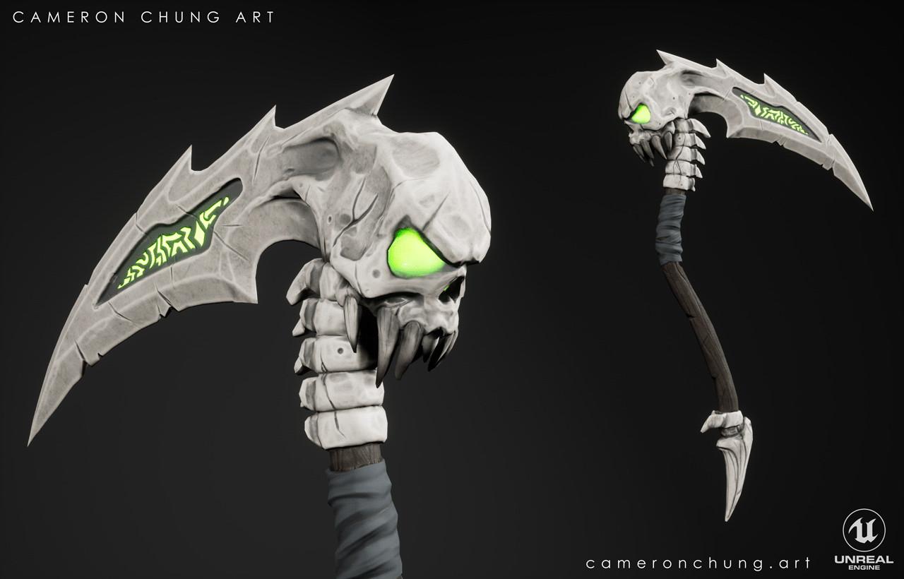 Cameron chung stylized scythe image