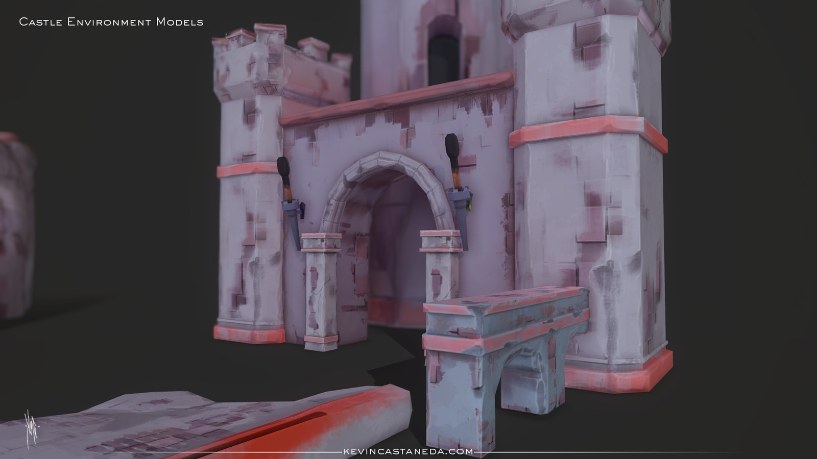 closer look at the castle environment.