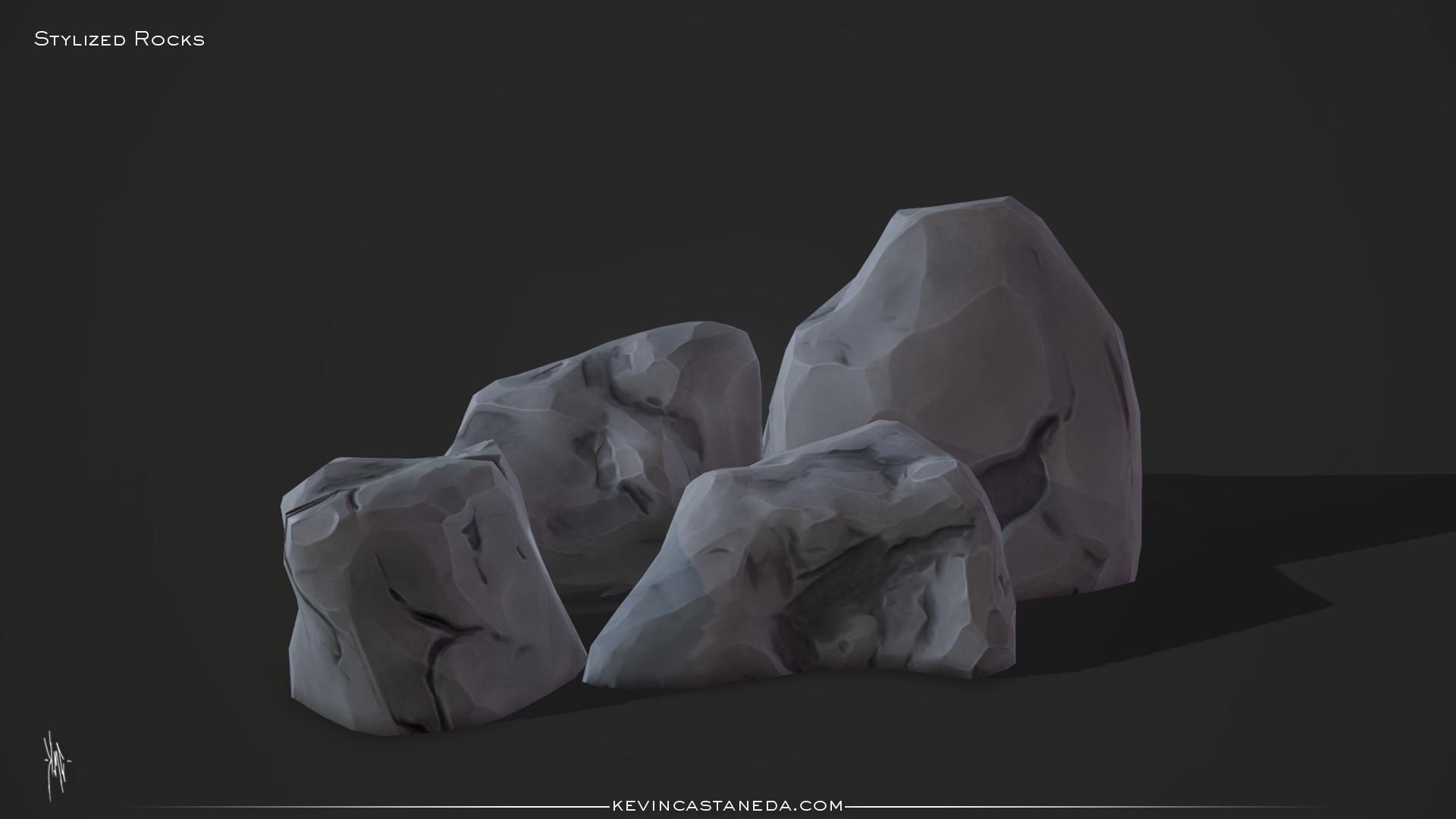 Kevin m castaneda stylized rocks