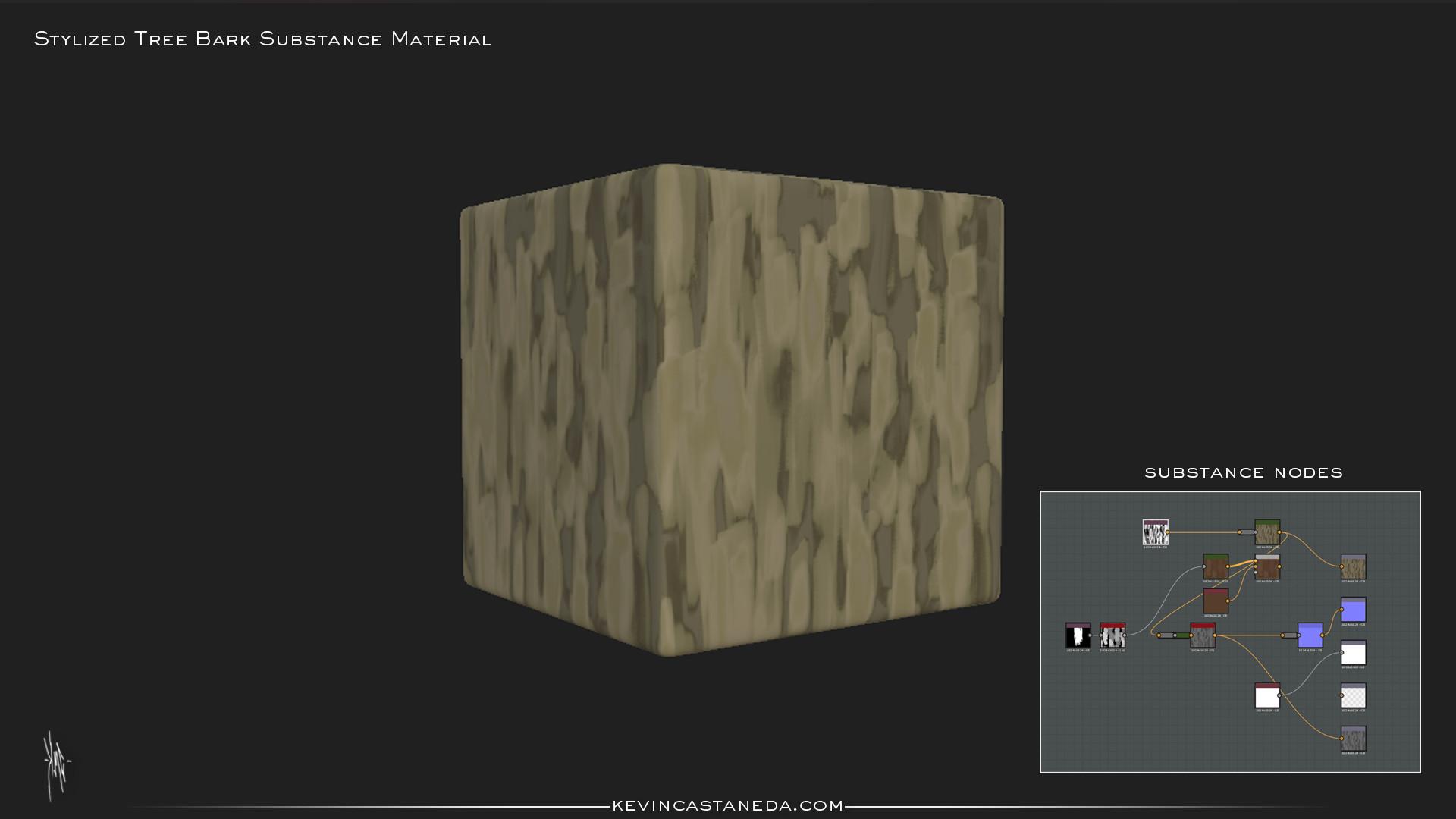 Kevin m castaneda stylized tree bark