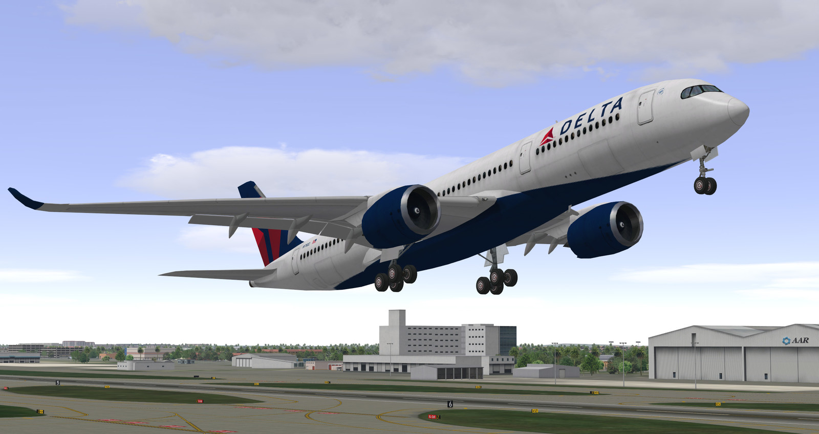 Delta A350 takeoff from Atlanta