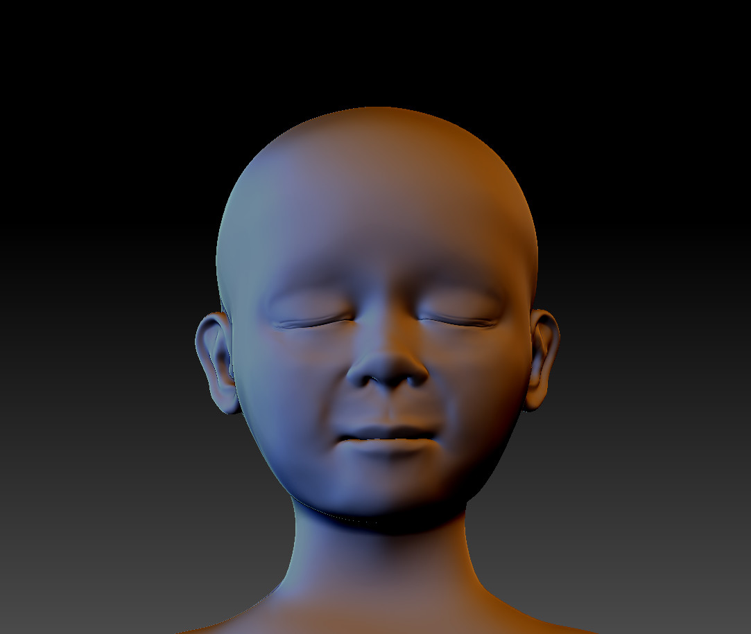 Child Bust Front