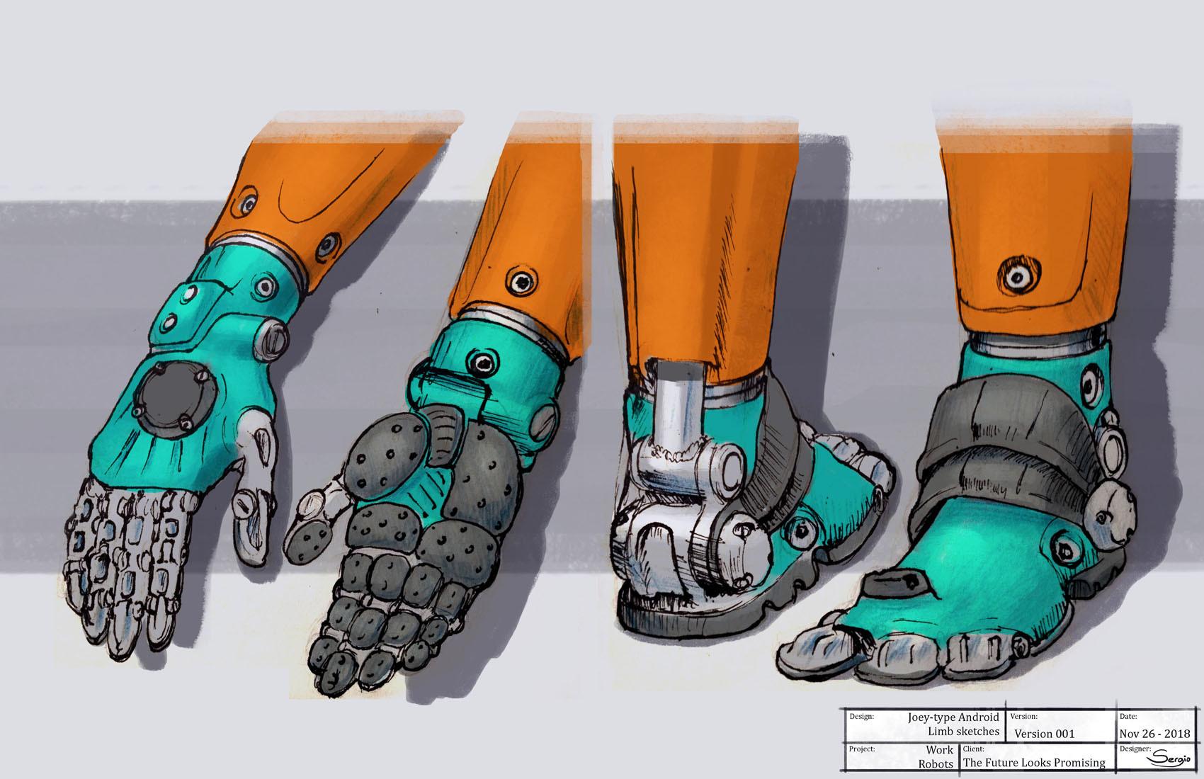 Sergio botero tflp masonbot limb sketches