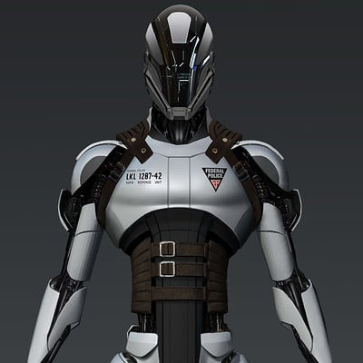 Rob mckinnon tr federal police synth render white rm