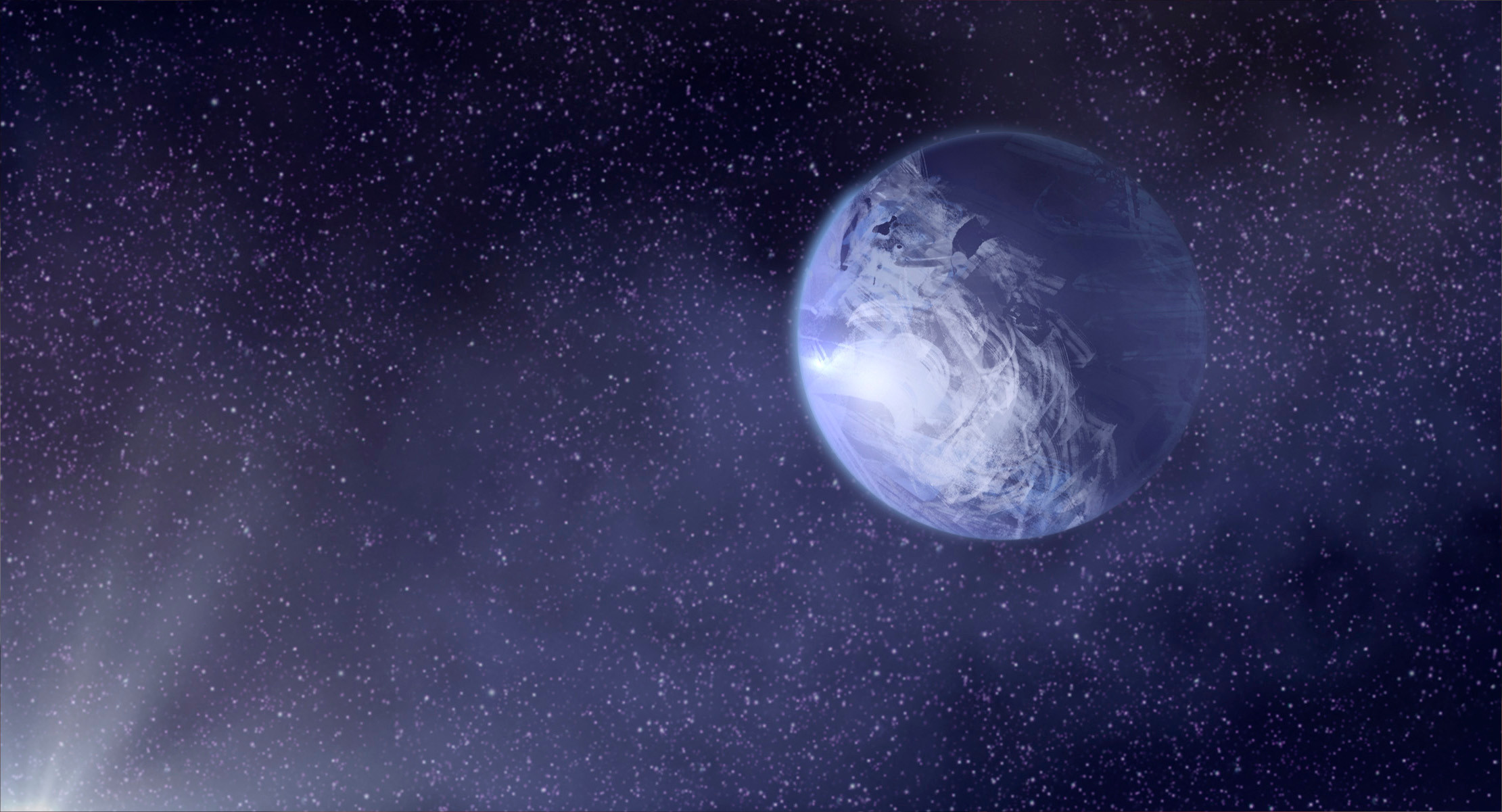 --our destination planet, wreathed in a mysterious mantle of clouds.