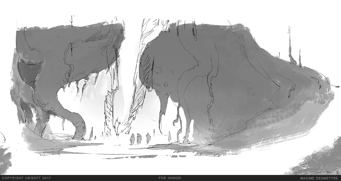 The sketch that led to the Roots Ravine image (2014)