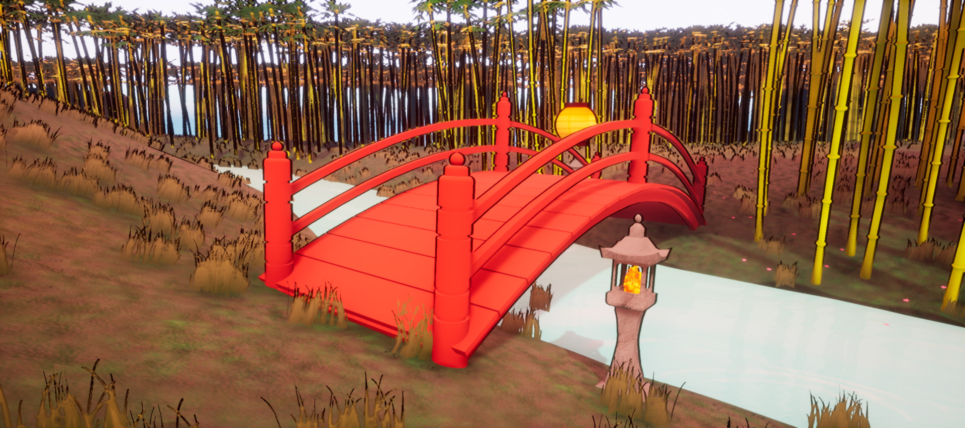 The red bridge from another angle.