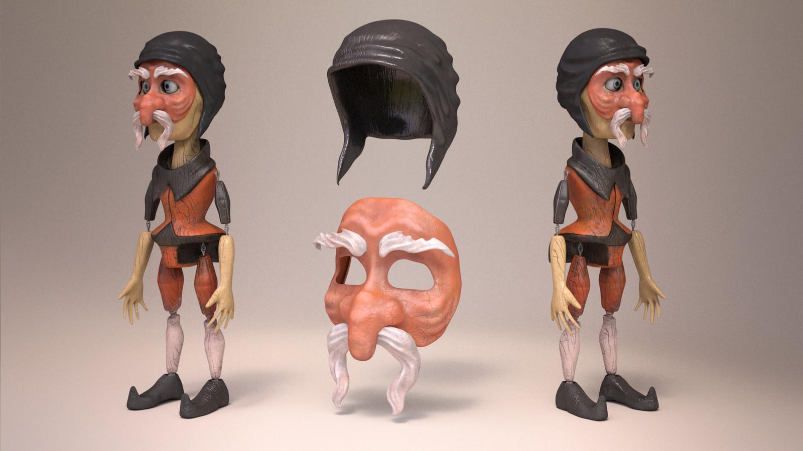 Pantalone Marionette Puppet