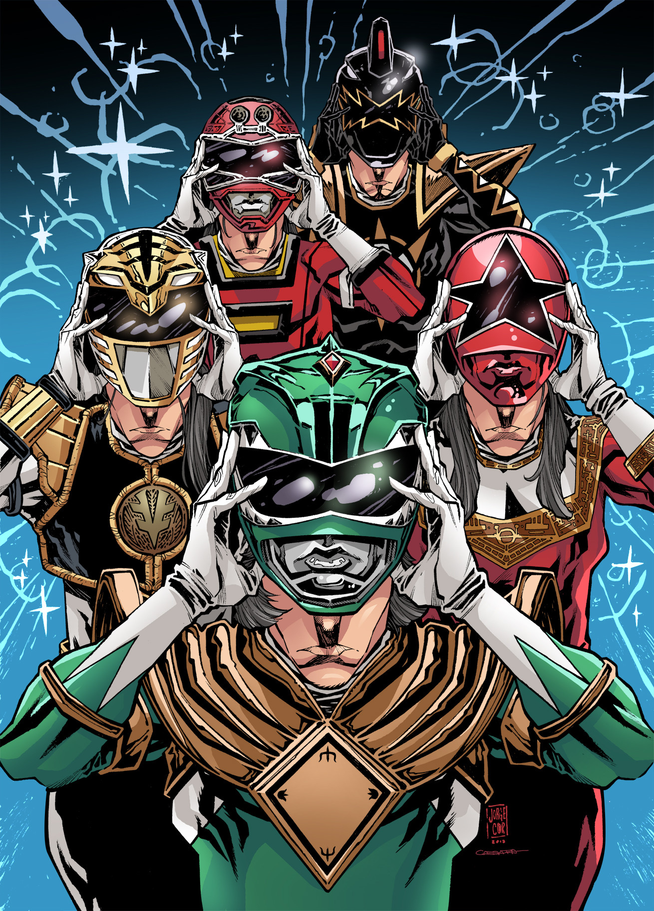 Gabriel cassata power rangers tribute jorge corona colors