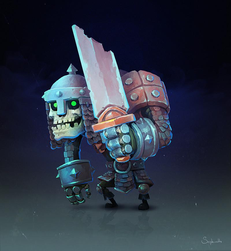 Sephiroth art skeleton warrior