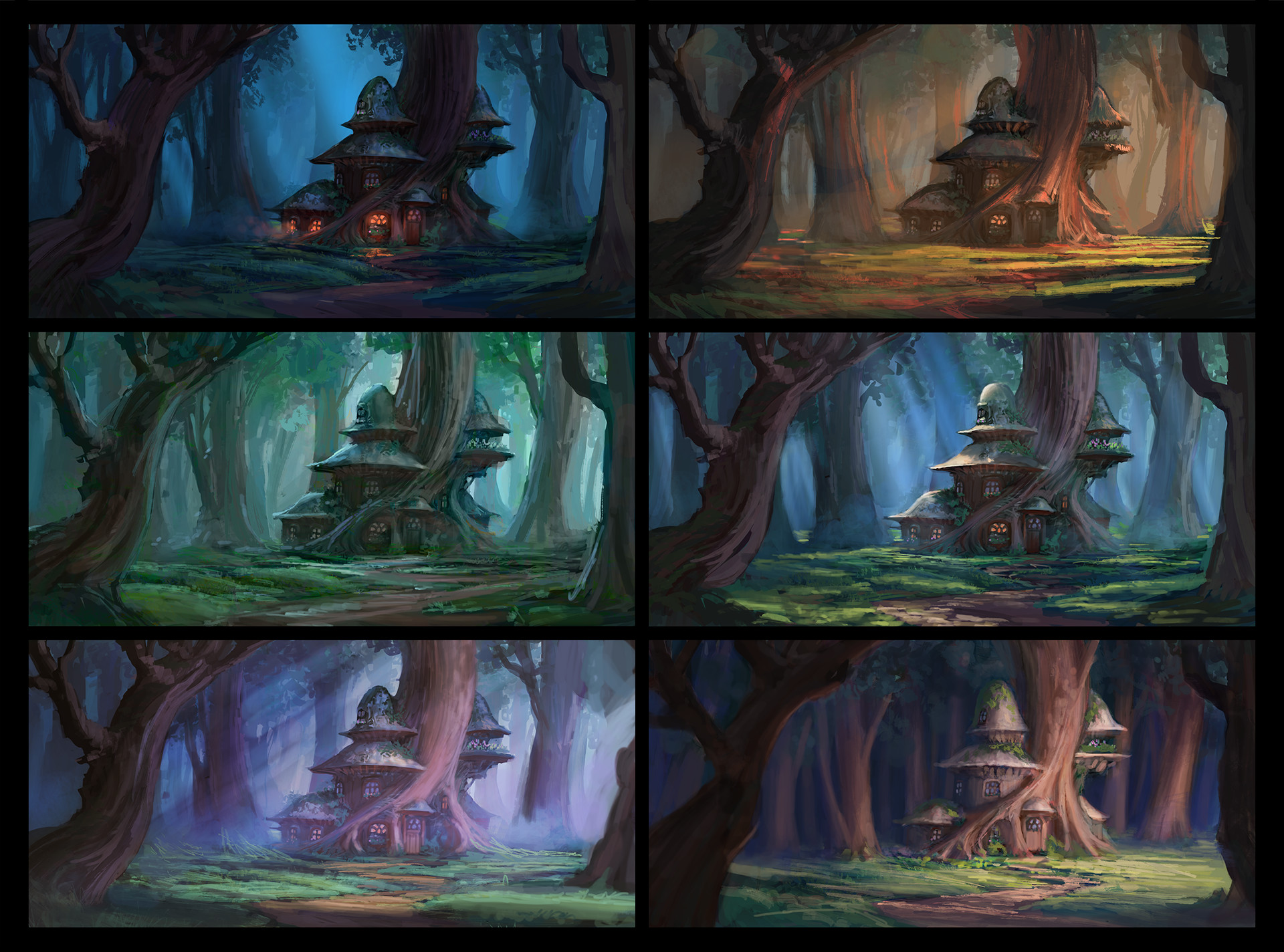 Color and Mood Thumbnails