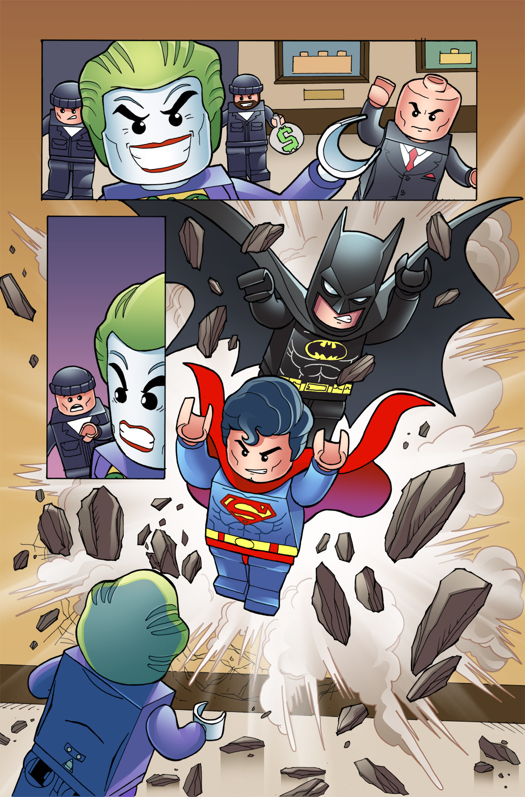 Gabriel cassata lego superman batman colors2