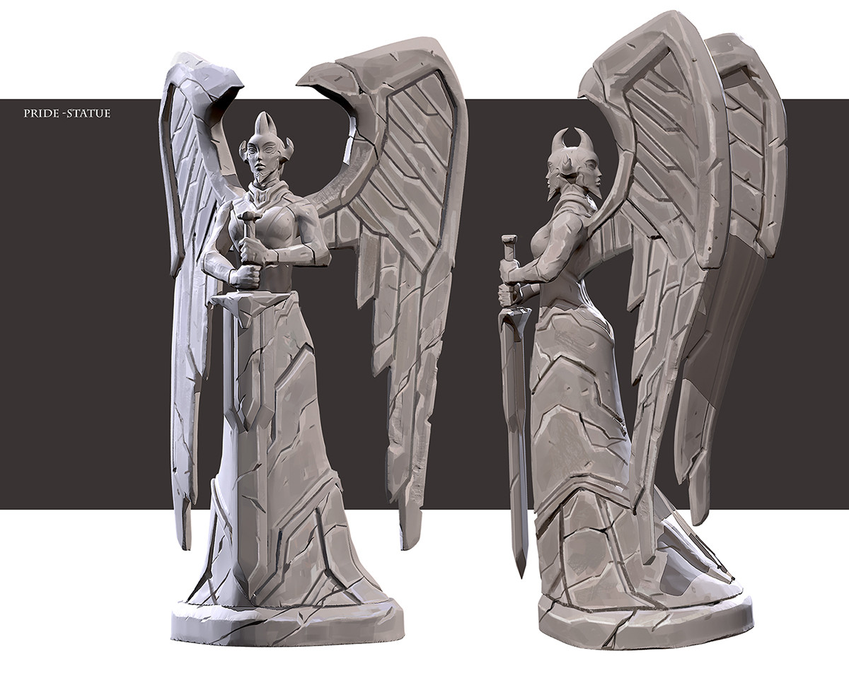 Daryl mandryk pride statue concept