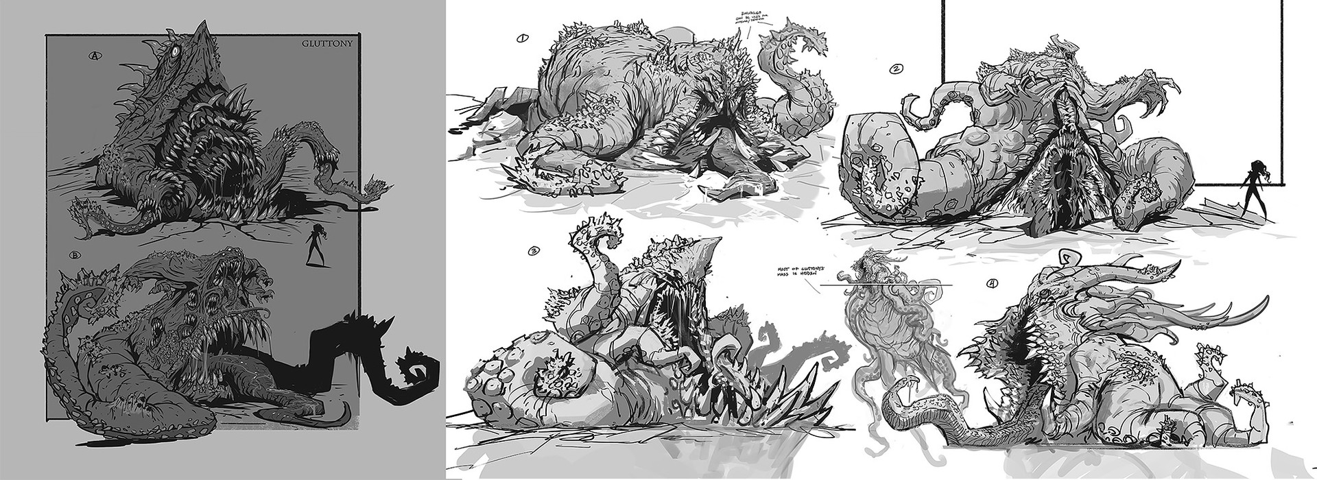 Daryl mandryk gluttony sketches