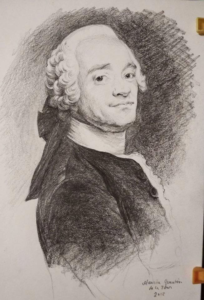 Maurice Quentin de la Tour study