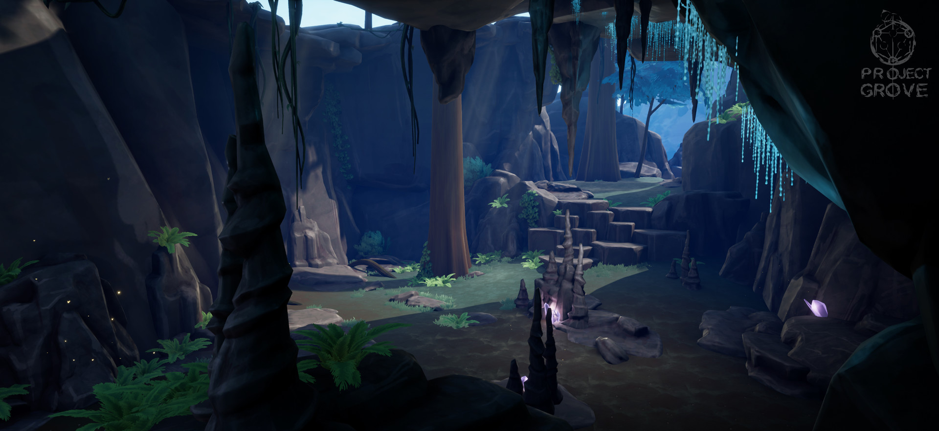 3D environment I put together with the assets I made.