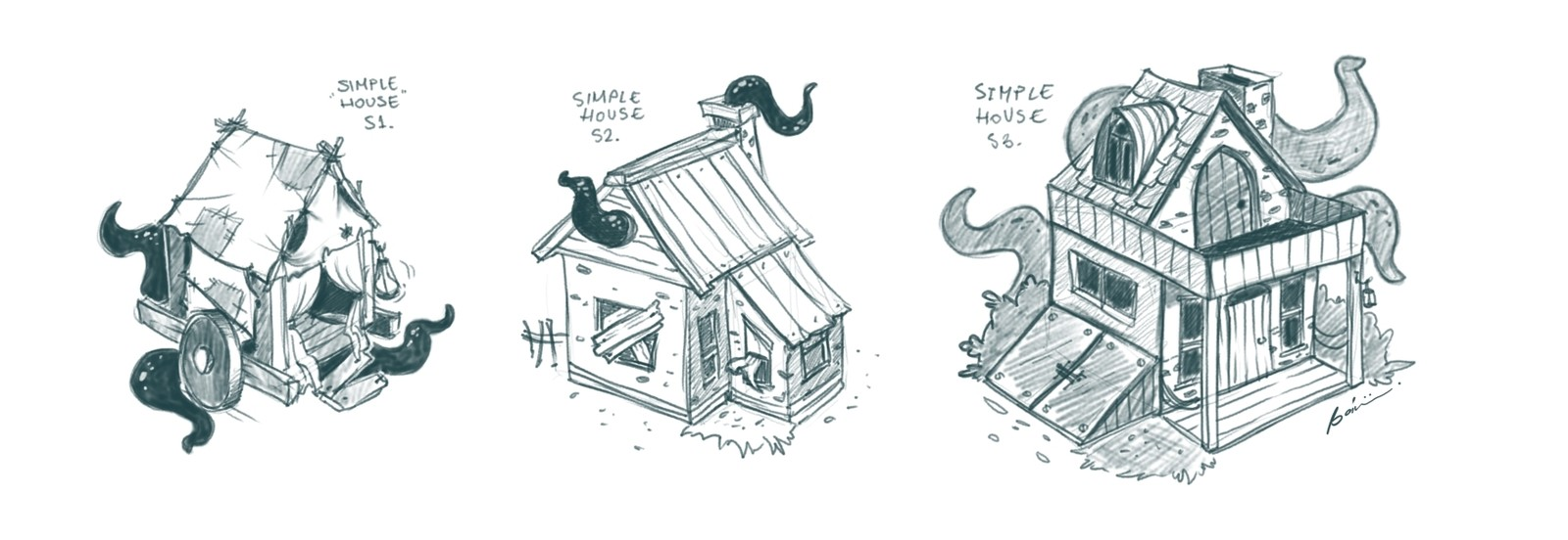 Houses - different stages
