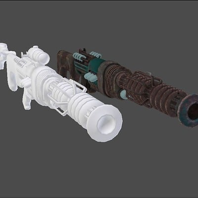 Andrew wilkins energy weapon recharger rifle remake 1