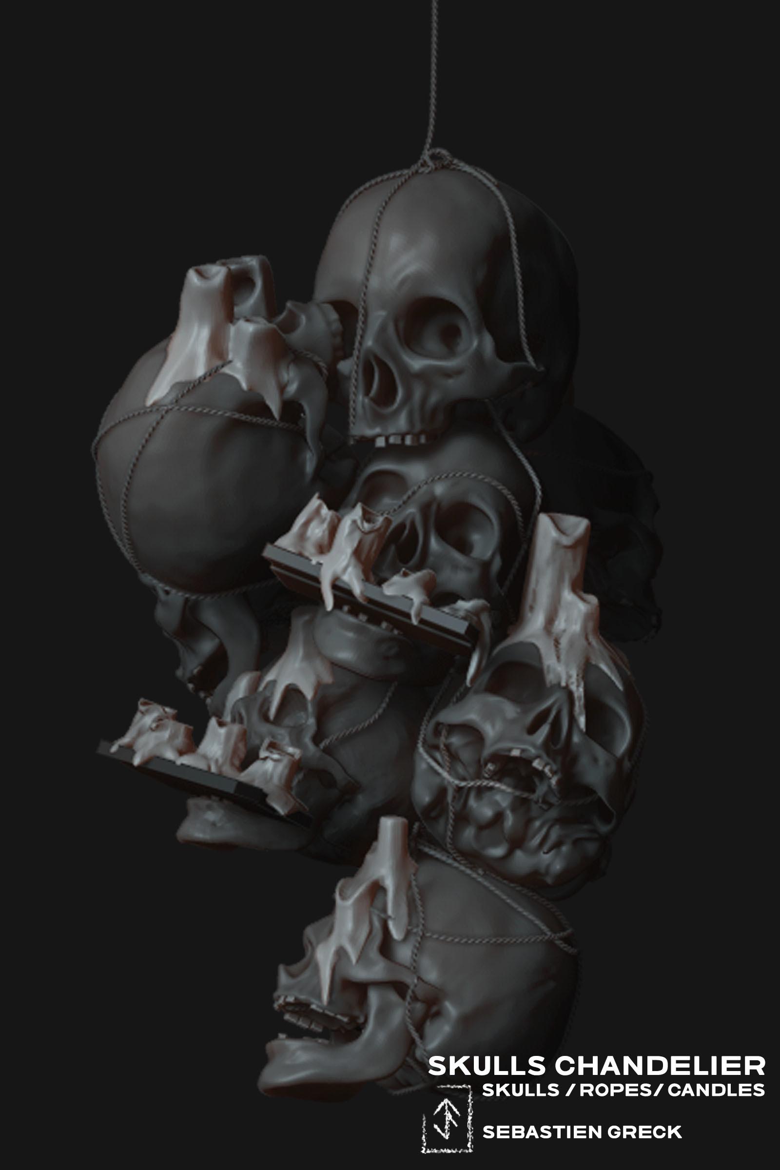 Sebastien greck skulls chandelier sebastien greck
