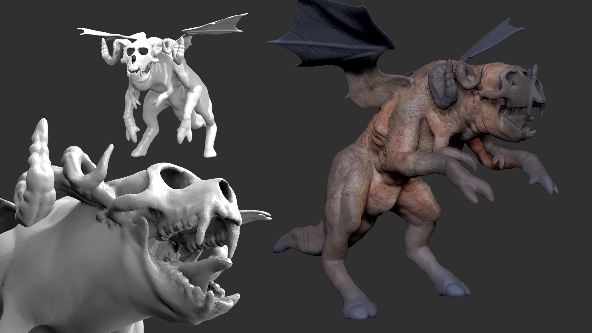 ArtStation - Demon WIP 9b6f471056e01
