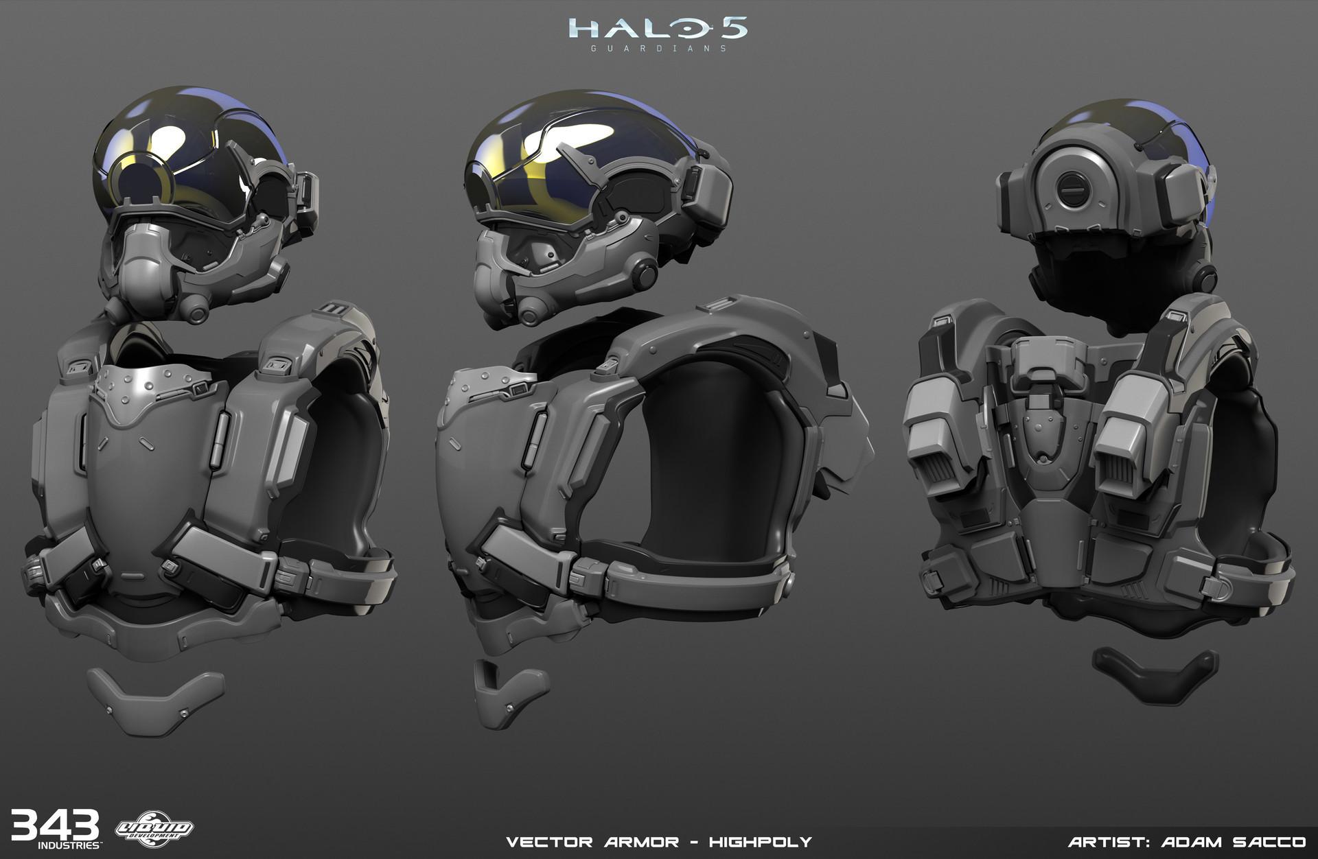 Adam sacco adam sacco halo5 vector armor highpoly1