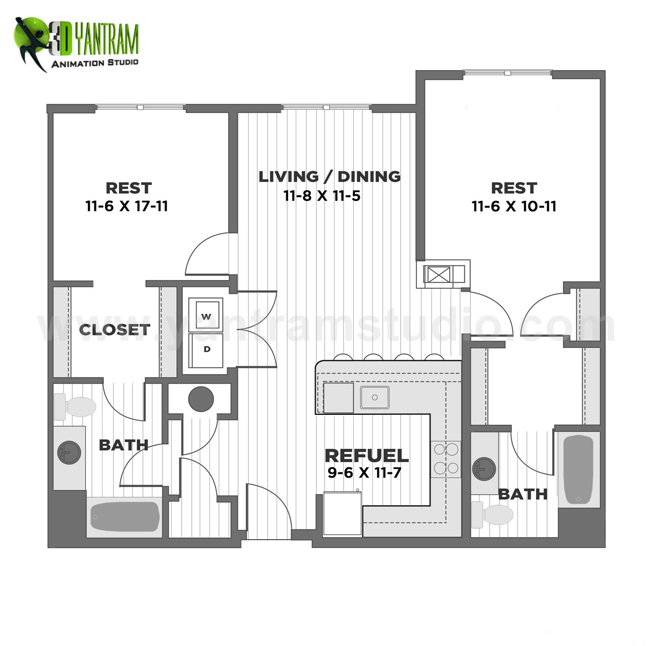 2D Home Interactive Floor Plan Design By