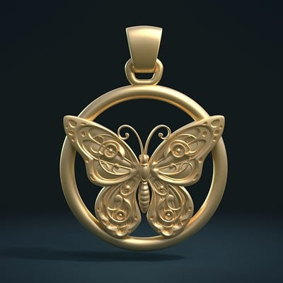 Alexander volynov batterfly pendant cycles g 0000
