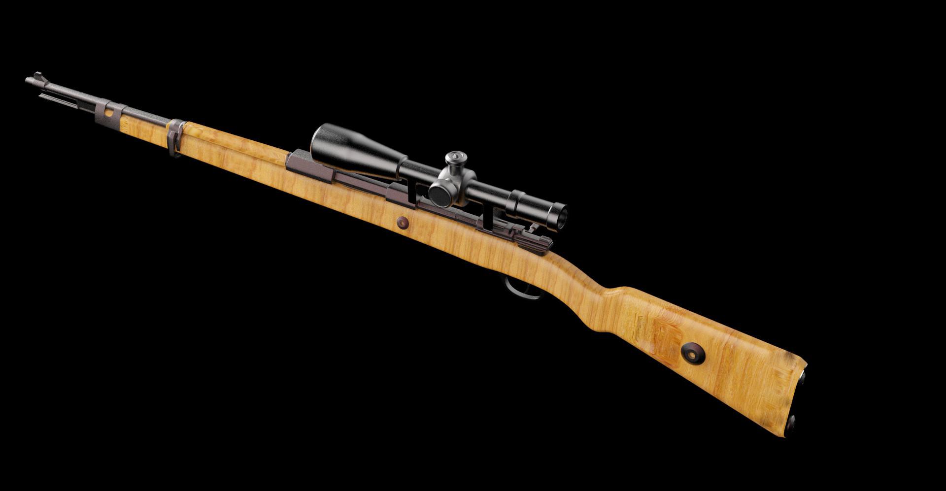 3d Art Modeling   Kar 98   Pubg Guns