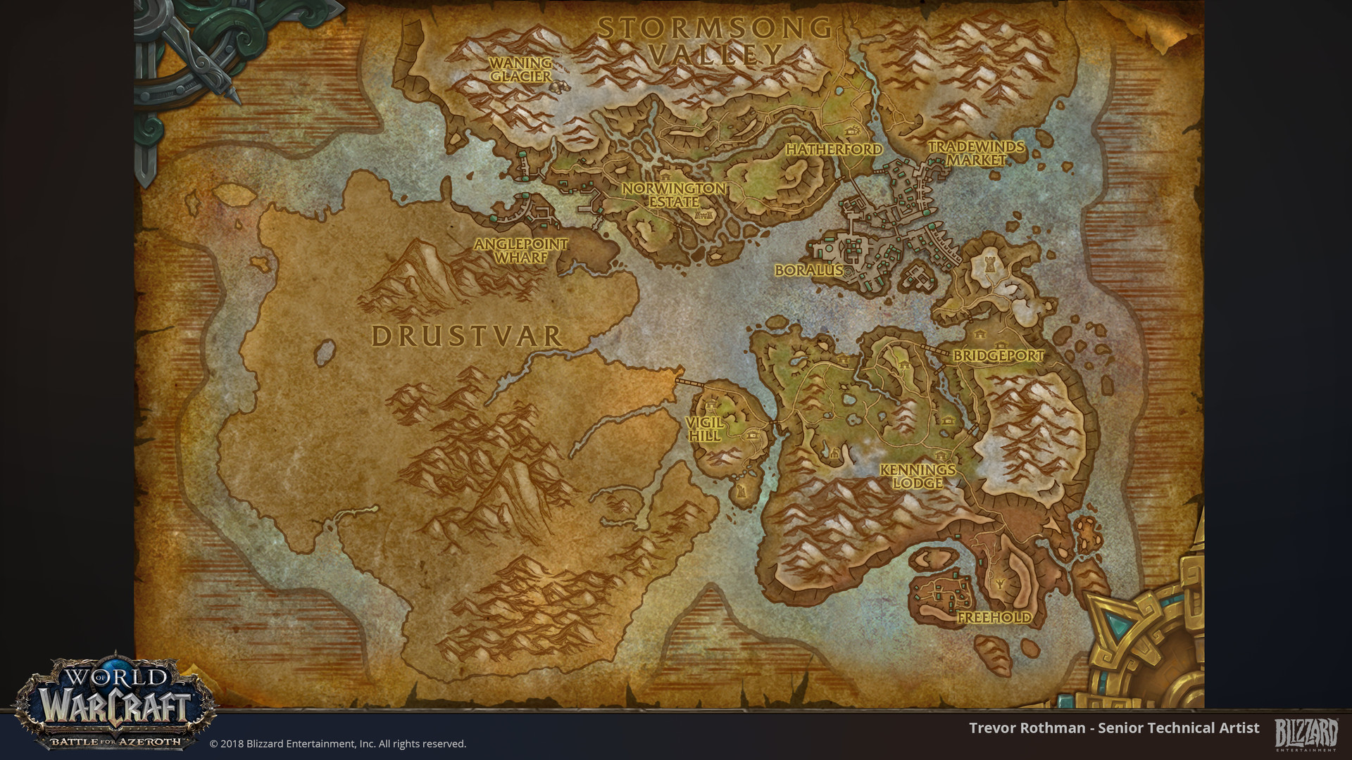 ArtStation - World of Warcraft: Battle for Azeroth Maps, Trevor Rothman