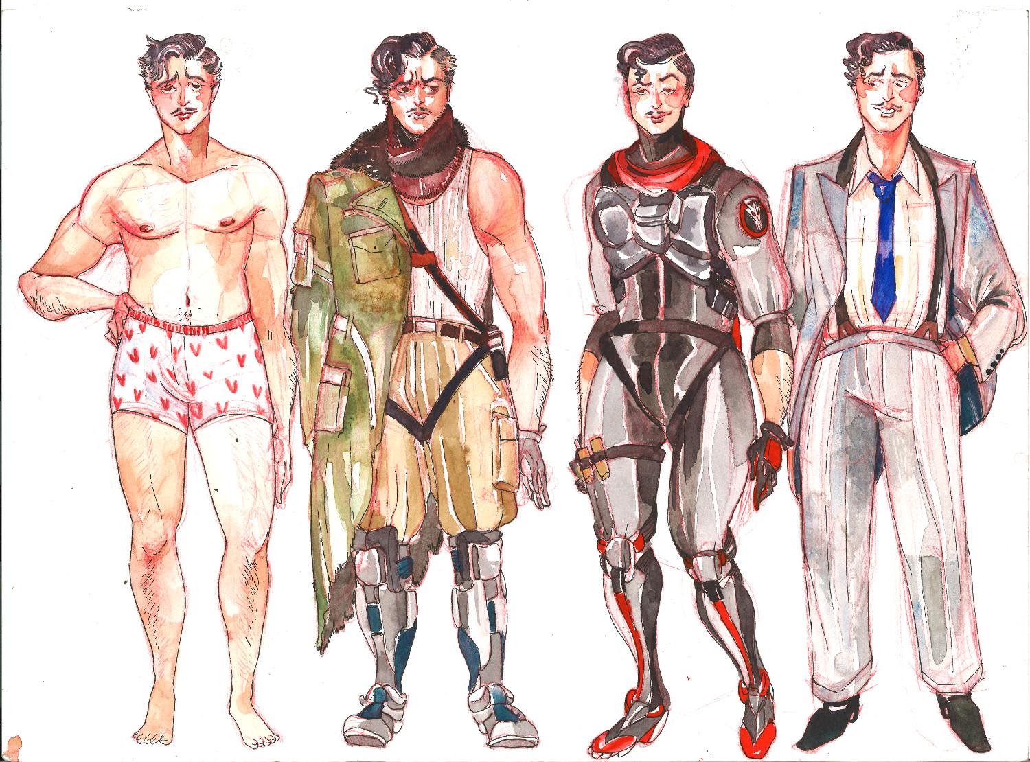 undergarments, resistance fighter, Blackwatch, 'black' tie