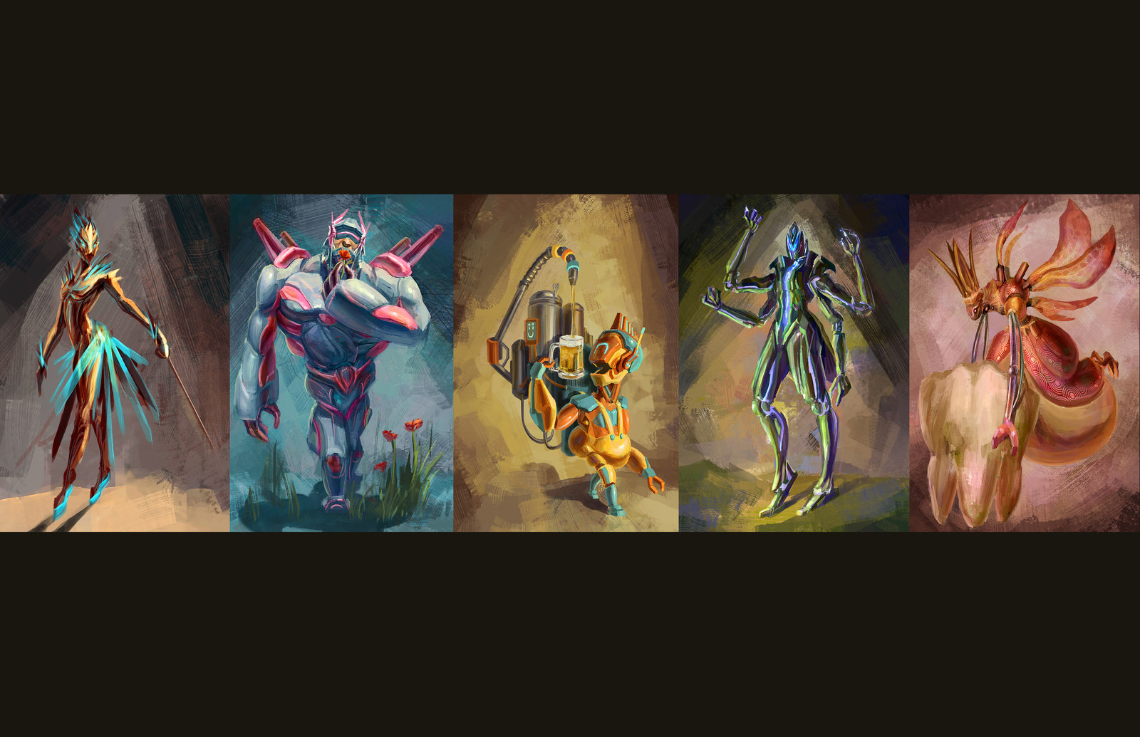 Five Character Design