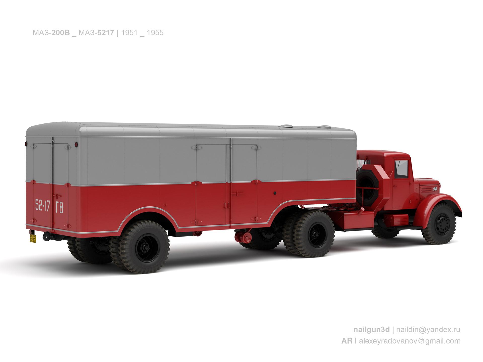 Nail khusnutdinov ussr maz 205v maz 5217 1955 1