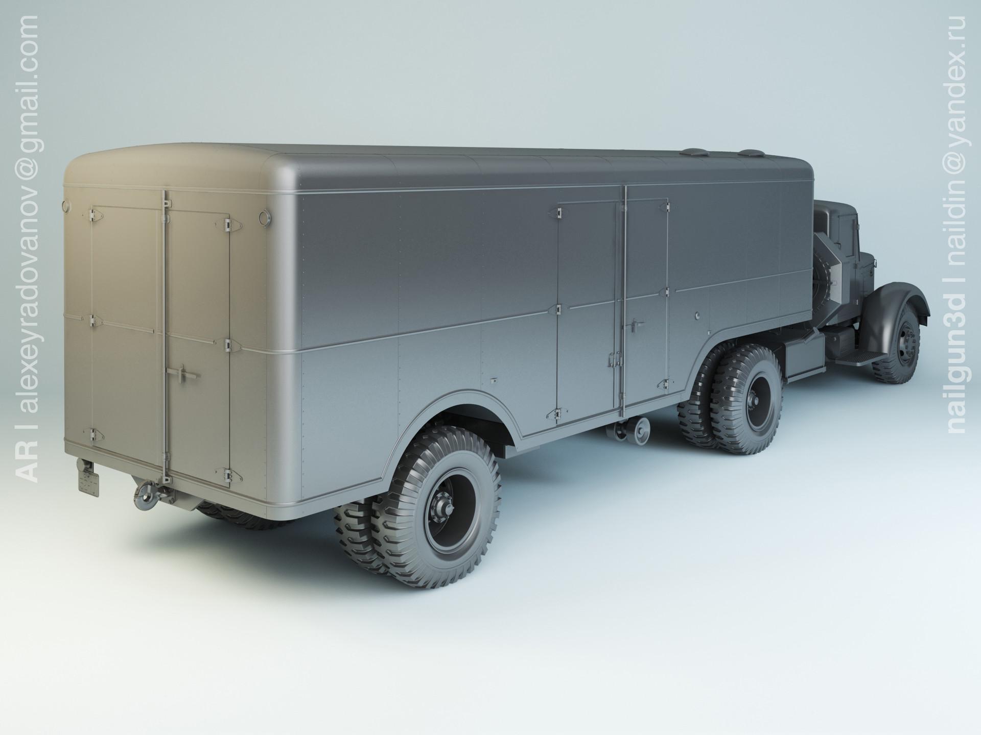 Nail khusnutdinov slg 003 000 maz 205v maz 5217 modelling 1