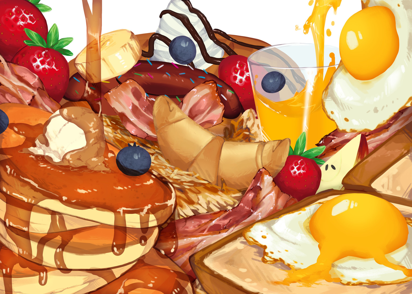 Breakfast foods [original] (print/playmat/zipper bags)