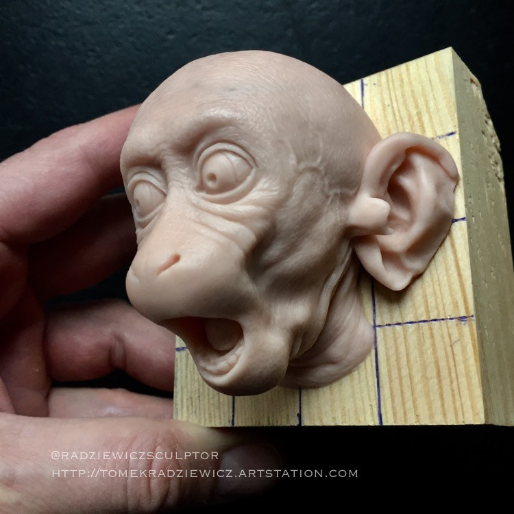 Monkey head/ super sculpy