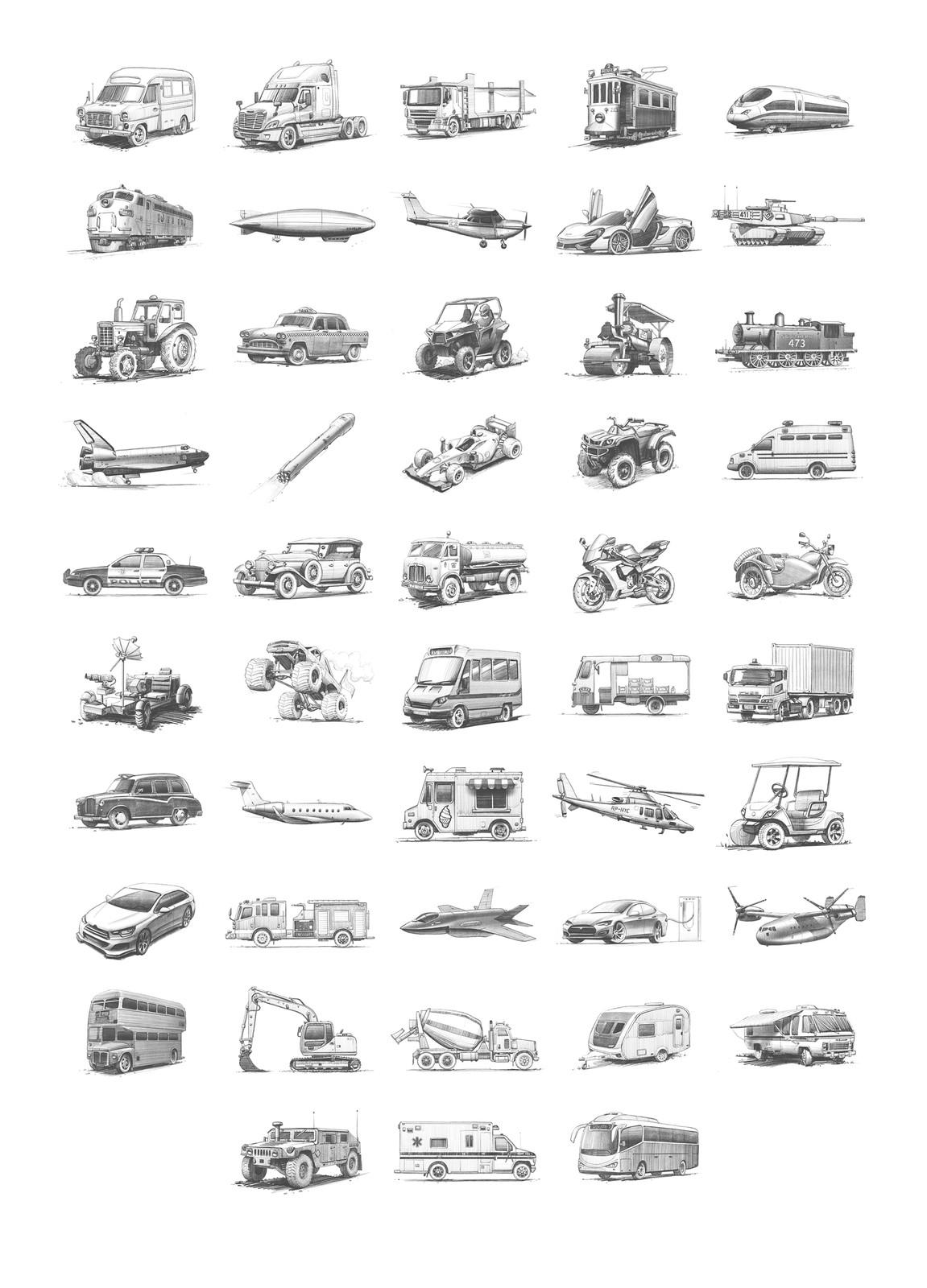 Total 48 drawings