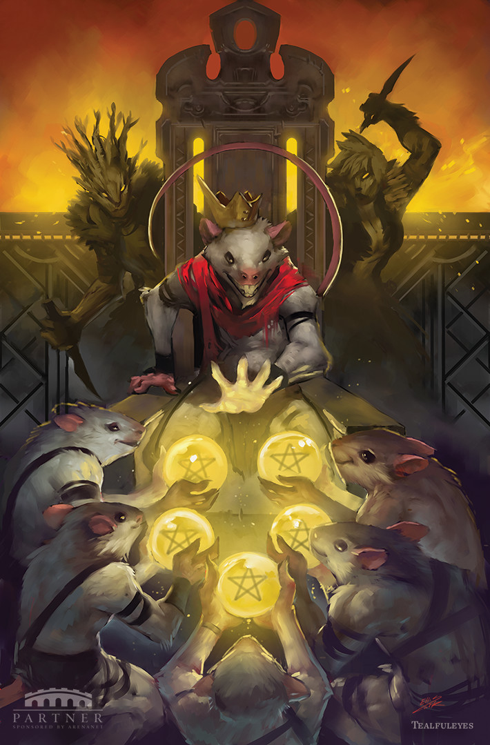 Tyrian Tarot - Five of Pentacles